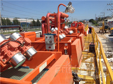 shale shaker and mud cleaner in HDD Mud System